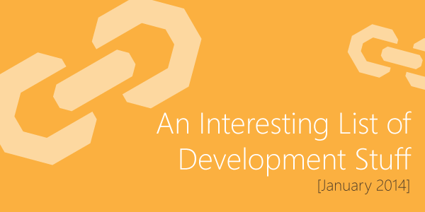 Development Stuff - January